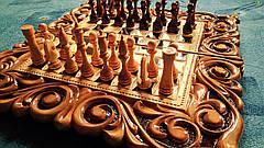 Шахматы-нарды подарочные 3 в 1, фото 3