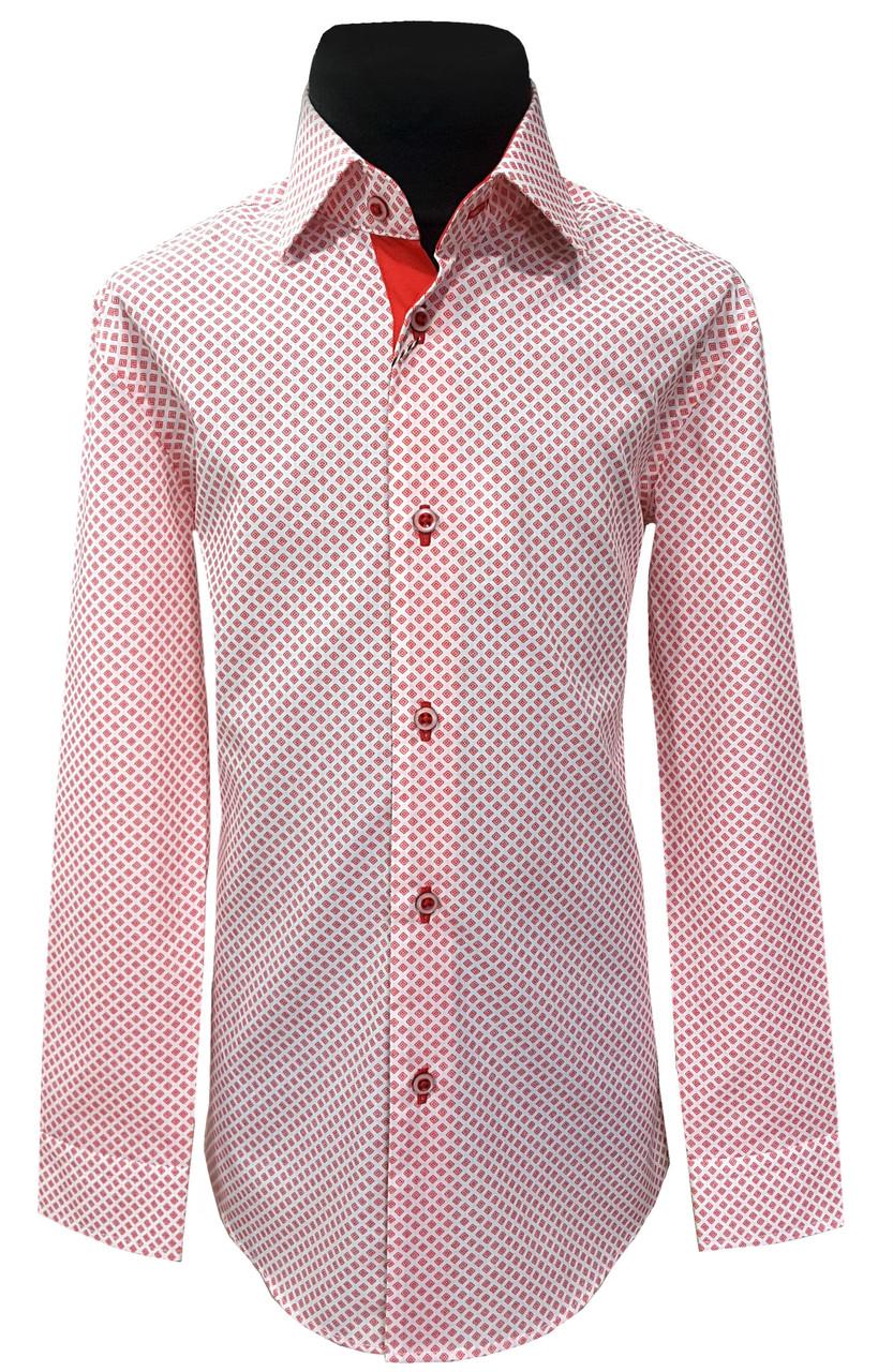 Рубашка детская  №12.1  9752/17467 крас.