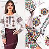 Женская вышиванка Роксолана крестиком с ярким орнаментом Размеры 152-170