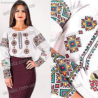 Женская вышиванка Роксолана крестиком с ярким орнаментом Размеры 152-170, фото 1