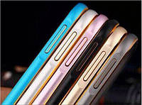 Чехол Metal bumper for iPhone 6 with golden line Silver