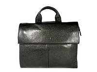 Деловая сумка, портфель кожаный мужской Bond Non 1039-281 черный, 36*30*11 см