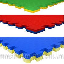 МАТ ТАТАМИ Ласточкин Хвост(1мх1мх2,6см).Напольное покрытие пазл.
