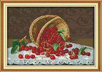 Сладкие вишни Набор для вышивки крестом с печатью на ткани 14ст