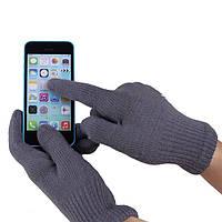 Перчатки iGlove для сенсорных экранов темно-серые