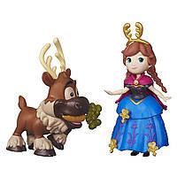 """Куклы и пупсы «Disney Frozen» (B5185) набор маленьких кукол """"Анна и Свен (Anna & Sven)"""", 7 см"""