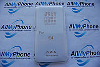 Чехол силиконовый для Samsung E4 0.5mm White