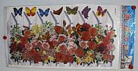 "Декор - купаж ""Бабочки"" Размер наклейки 68 х 34 см."