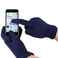 Перчатки iGlove для сенсорных экранов темно-синие