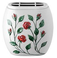 Контейнер для цветов - ветви розовой - красный провод Vaschetta portafiori - Tralci di rosa - Filo rosso T.03.6472/18/PL