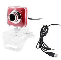 USB Вебкамера квадратная красная #100184