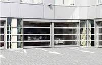 Ворота панорамные промышленные секционные ISD02 3500х3500 Doorhan