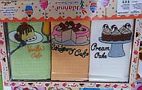 Комплект вафельных кухонных полотенец Кейк