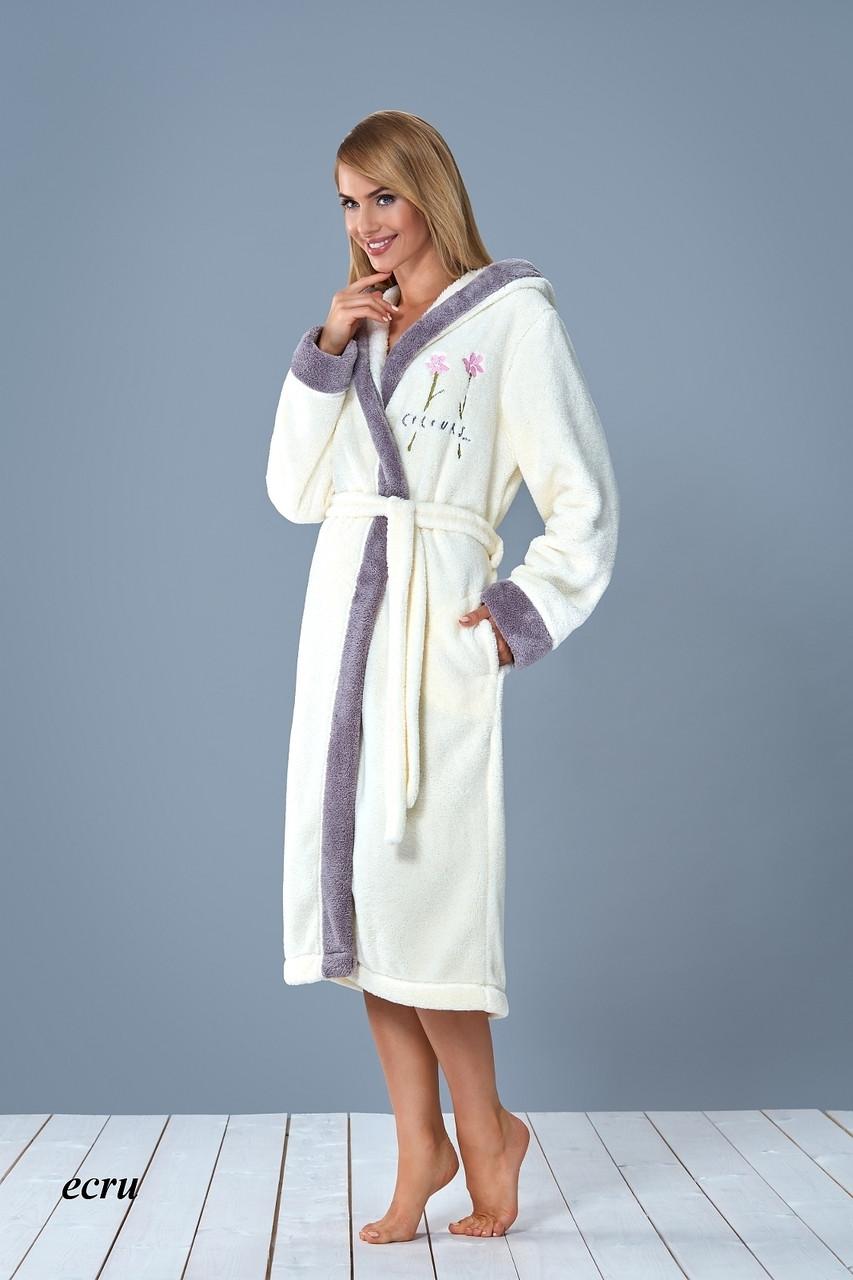 Практичний домашній жіночий халат у класичному стилі L&L ADEL dl