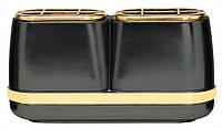 Вазочка двойная - меркурий отделка позолотой Vaschetta doppia mercurio finiture dorate T.03.2987/17.5/RA