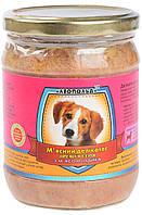 Консервы для собак Леопольд Премиум, мясной деликатес, с мясом индейки, 500 гр (стекло)