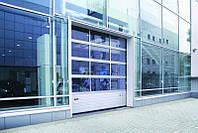 Ворота панорамные промышленные секционные ISD02 4000х4000 Doorhan