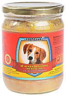 Консервы для собак Леопольд Премиум, мясной деликатес, с мясом телятины, 500 гр (стекло)