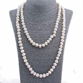 Бусы и ожерелья из натурального жемчуга
