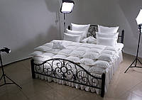 Одеяло пуховое LUXE COLLECTION 200×220 (90% серый пух, 10% пера, зимнее+, 1500г)