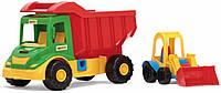 Игрушечная детская машинка Грузовик с трактором Wader