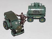 Модели тракторов 1:72. Трактор с прицепом-бензобочкой, 2-ая мировая война.