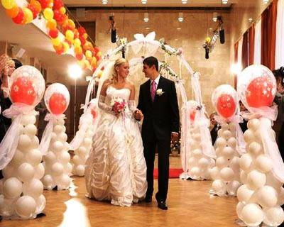 свадебные стойки из шаров