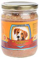 Консервы для собак Леопольд Премиум, мясной деликатес, с мясом птицы, 500 гр (стекло)