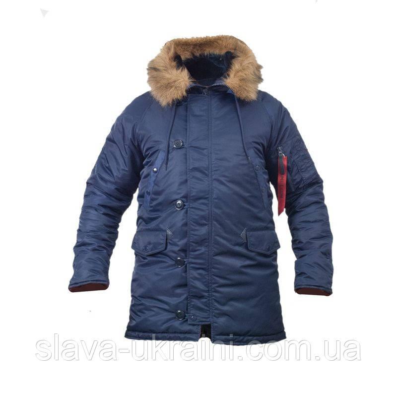 8747dc63c4e Куртка зимняя slim fit Аляска N-3b Navy  продажа