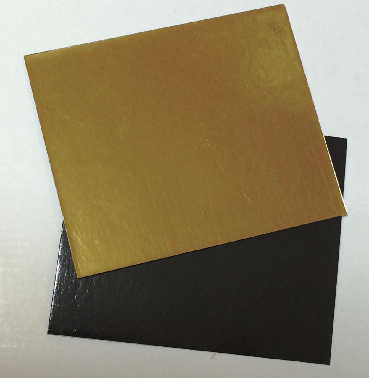 Подложка прямоугольная 10*12 см золото/черное (код 05204)