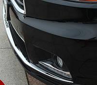 Toyota Highlander XU50 2014 накладка хром на бампер передний