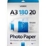 Фотобумага Videx матовая ( формат А3, плотность 180 г/м2 односторонняя матовая ) 20 листов