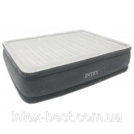 Intex 64414 надувная кровать Comfort Plush 203x152x46см, фото 2