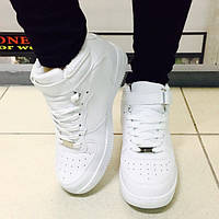Кроссовки Nike Air Force зима белые