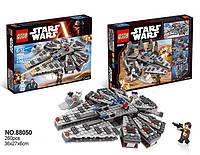 Конструктор QS08 серия Stars Wars 88050 Сокол Тысячелетия (аналог Lego Star Wars)