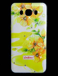 Чехол накладка для Samsung Galaxy J7 2016 J710 силиконовый Diamond Cath Kidston, Sun Flowers
