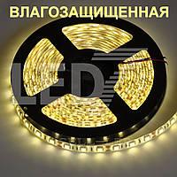 Влагозащищенная светодиодная лента 5050 теплый белый, 60 д/м