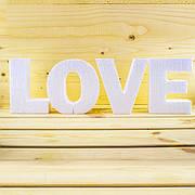 Буквы и слова из пенопласта для свадьбы
