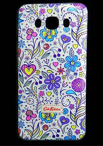 Чехол накладка для Samsung Galaxy J7 2016 J710 силиконовый Diamond Cath Kidston, Цветочная Фантазия
