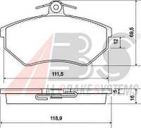 Колодки передние (для диска: 239х20)  ABE C1W007ABE; VAG 855698151B; ABS 36790, 36790S, A36790 на Audi 80