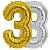 Шарик Цифра (45см) золото 3