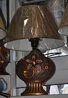 Светильник настольный Абажур керамический Цветок 48см