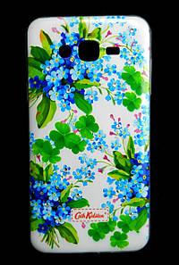 Чехол накладка для Samsung Galaxy J7 J700 силиконовый Diamond Cath Kidston, Прекрасные незабудки