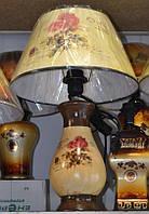 Светильник настольный Абажур керамический Роза 48см