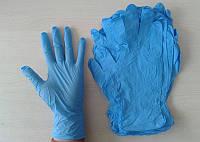 """Перчатки """"XS"""" (100 шт/50 пар)  нитрил. голубые текстурированные на пальцах Medicom Slim Blue"""