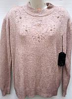 Теплая женская кофточка с цветочным узором 215