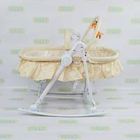 Детский шезлонг-люлька 3в1 Baby Tilly BT-BB-0003 BEIGE