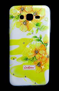 Чехол накладка для Samsung Galaxy J7 J700 силиконовый Diamond Cath Kidston, Sun Flowers