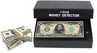 Ультрафиолетовый детектор валют «AD-118AB» работает от батареек