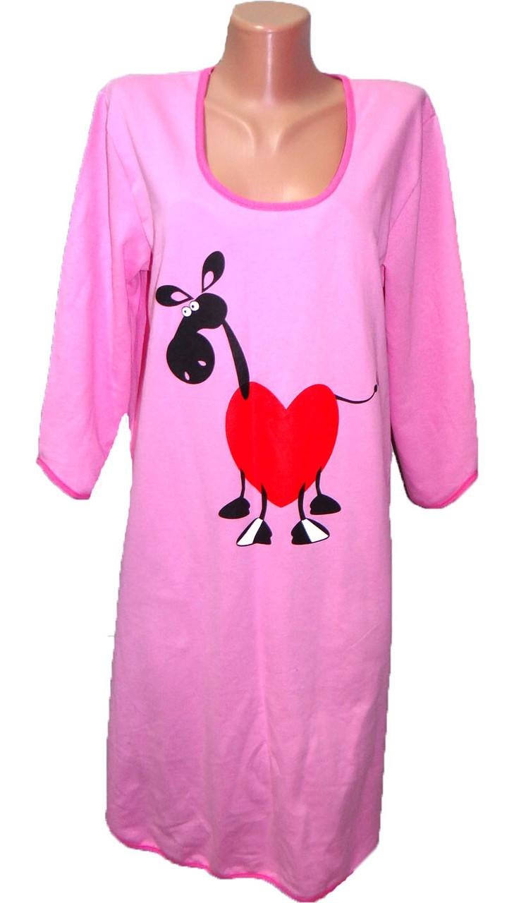 Женская ночная рубашка (байка) р.42-50